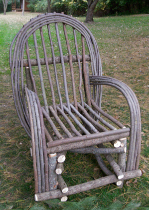 Add Rustic Character To Your Porch, Patio Or Yard With This Durable And  Functional Willow Twig Chair. Our Small Bent Twig Willow Chair Is Made Of  Willow And ...