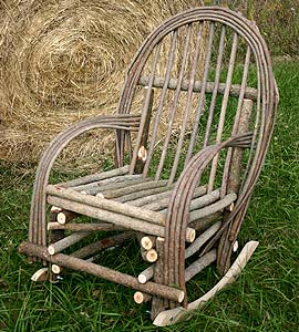 Add Rustic Character To Your Porch, Patio Or Yard With This Durable And  Functional Willow Twig Rocker. Our Bent Twig Willow Rocker Is Made Of  Willow And ...
