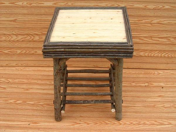 Item# 237-A,B - Elegant Slat Square Table