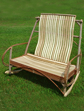 Item# 231- Elegant Slat Love Seat Rocker