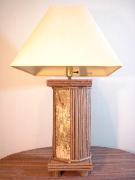 Birch View Twig lamp