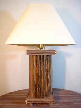 Greek Pillar Twig Lamp