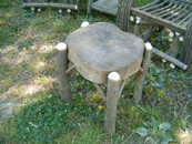 Item# 341 - Hearty Stump End Table